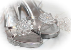 Bridal Shoe Detail Stock Image