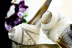 Bridal Shoe Detail Royalty Free Stock Image