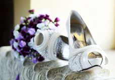 Bridal Shoe Detail Royalty Free Stock Photos