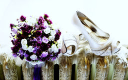Bridal Shoe Detail Royalty Free Stock Photography