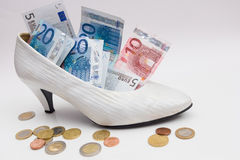 Bridal shoe Royalty Free Stock Images