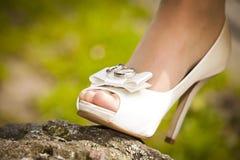 Bridal shoe Stock Image