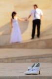 Bridal shoes Stock Image