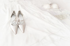 Bridal Shoes Stock Photos