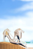 Bridal shoes Stock Images