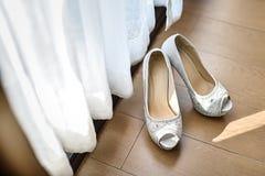 Bridal shoes Royalty Free Stock Photo