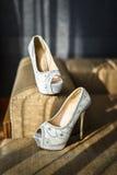 Bridal shoes Stock Photos