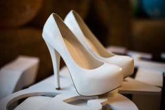 Bridal shoes Stock Photography