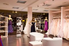 The bridal shop. Royalty Free Stock Images