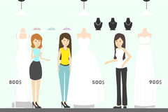 Bridal shop illustration. Royalty Free Stock Photos