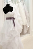 Bridal shop with mannequin Royalty Free Stock Photo