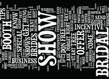 The Bridal Show Success Guide Text Background  Word Cloud Concept Royalty Free Stock Photography
