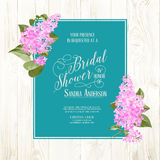 Bridal shower card Royalty Free Stock Image