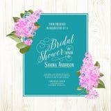 Bridal shower card Royalty Free Stock Image