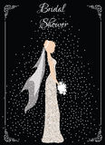 Bridal shower card Stock Photography