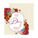 Bridal Shower Card Dory Stock Images