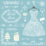 Bridal shower decoration set.Winter wedding  Stock Photography