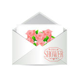 Bridal shower envelope invite sign Royalty Free Stock Images