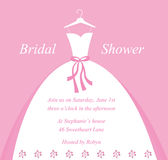 Bridal Shower Invitation. Beautiful pretty bridal shower invitation Royalty Free Stock Images