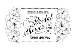 Bridal shower invitation card Royalty Free Stock Photo
