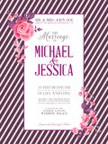 Bridal Shower invitation card. Stock Photos
