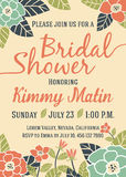 Bridal Shower Invitation Card Template Royalty Free Stock Photo