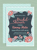 Bridal Shower Invitation Card Template Stock Photo