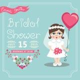 Bridal Shower invitation.European baby bride, Stock Photo