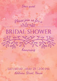 Bridal shower invitation Royalty Free Stock Image