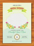 Bridal Shower Invitation with lovely design. Is a professional, clean, & creative Bridal Shower invitation template designed to make a good impression Stock Images