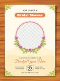 Bridal Shower Invitation with lovely design. Is a professional, clean, & creative Bridal Shower invitation template designed to make a good impression Royalty Free Stock Photo