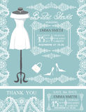 Bridal shower invitation set.Winter lace,wedding Stock Photography