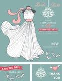 Bridal shower invitation template.Bridal dress Stock Images
