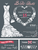 Bridal shower invitation template.Bridal dress Royalty Free Stock Photography