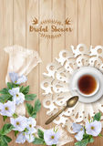 Bridal Shower Invitation Template Stock Photography