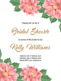Bridal shower invitation template. Bridal shower or wedding invitation with flowers. Vector Illustration Royalty Free Stock Photography