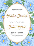Bridal shower invitation template Royalty Free Stock Photography
