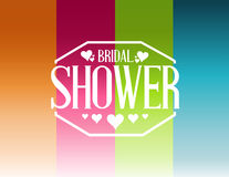 Bridal shower lines sign background Stock Photo