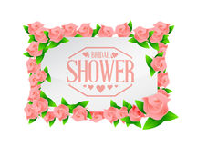 bridal shower roses board sign lines background Stock Photography