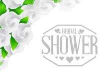 Bridal shower roses sign illustration design Royalty Free Stock Photo