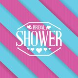 Bridal shower sign lines background Stock Photos