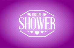 Bridal shower sign purple background illustration Royalty Free Stock Photography