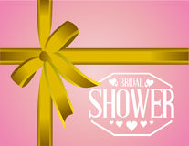 bridal shower sign ribbon background Royalty Free Stock Images