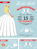 Bridal shower template set.Lovely Bride Stock Photo