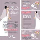 Bridal shower.Wedding cards.Bride,decoration Stock Photography