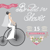 Bridal Shower.Wedding invitation with floral Royalty Free Stock Image