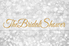 The bridal shower word on white silver background Stock Image