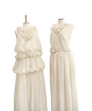 Bridal silk dresses, on mannequins Royalty Free Stock Image