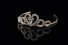 Bridal tiara. Silver tiara for weddings and special occasions royalty free stock image