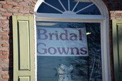 Bridal tog krawcowa fotografia stock